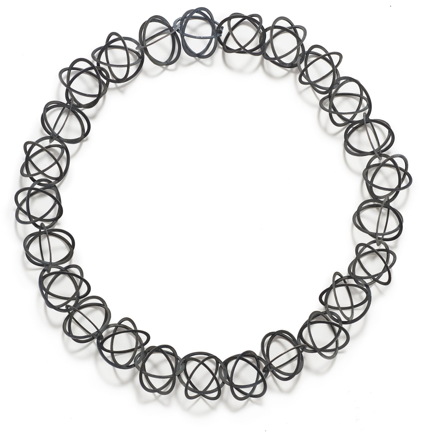 Blackened Silver Orbit Chain