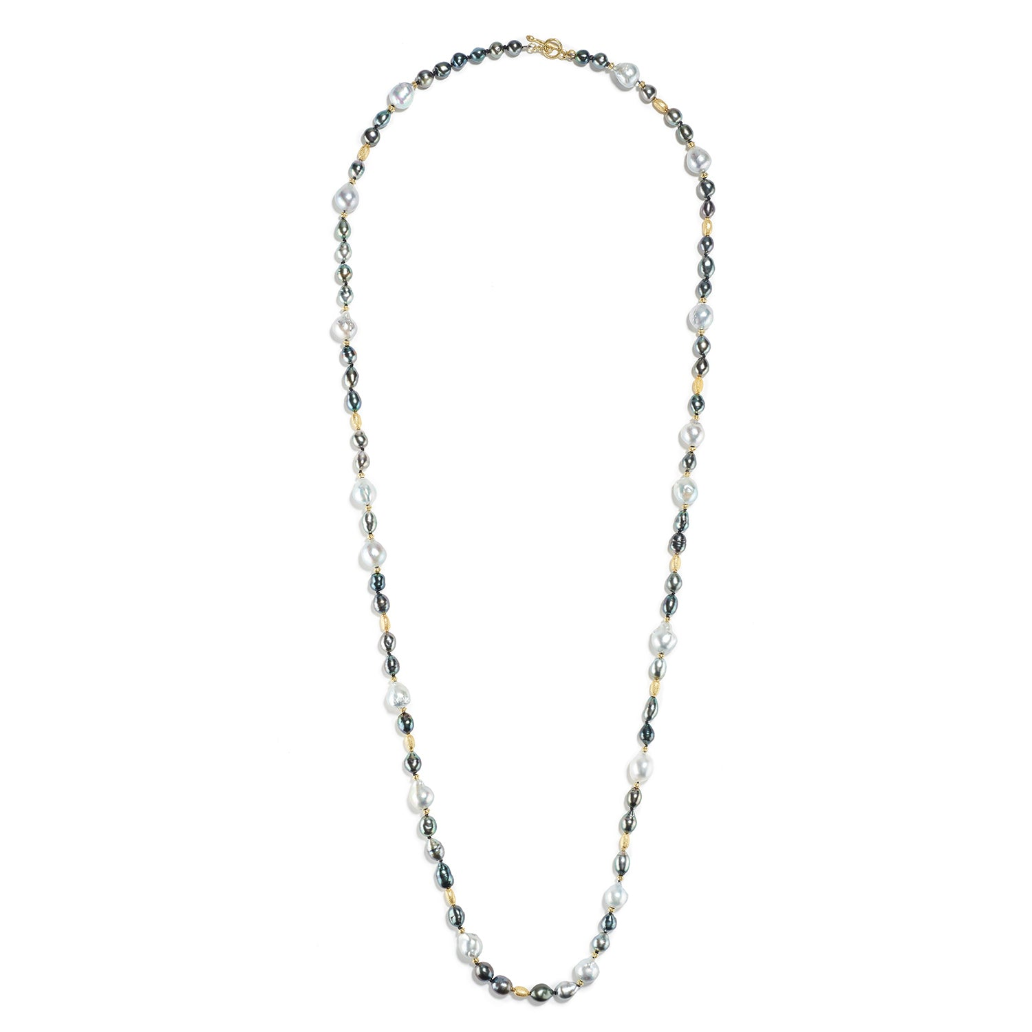 Tahitian Baroque & Keshi Pearl Necklace