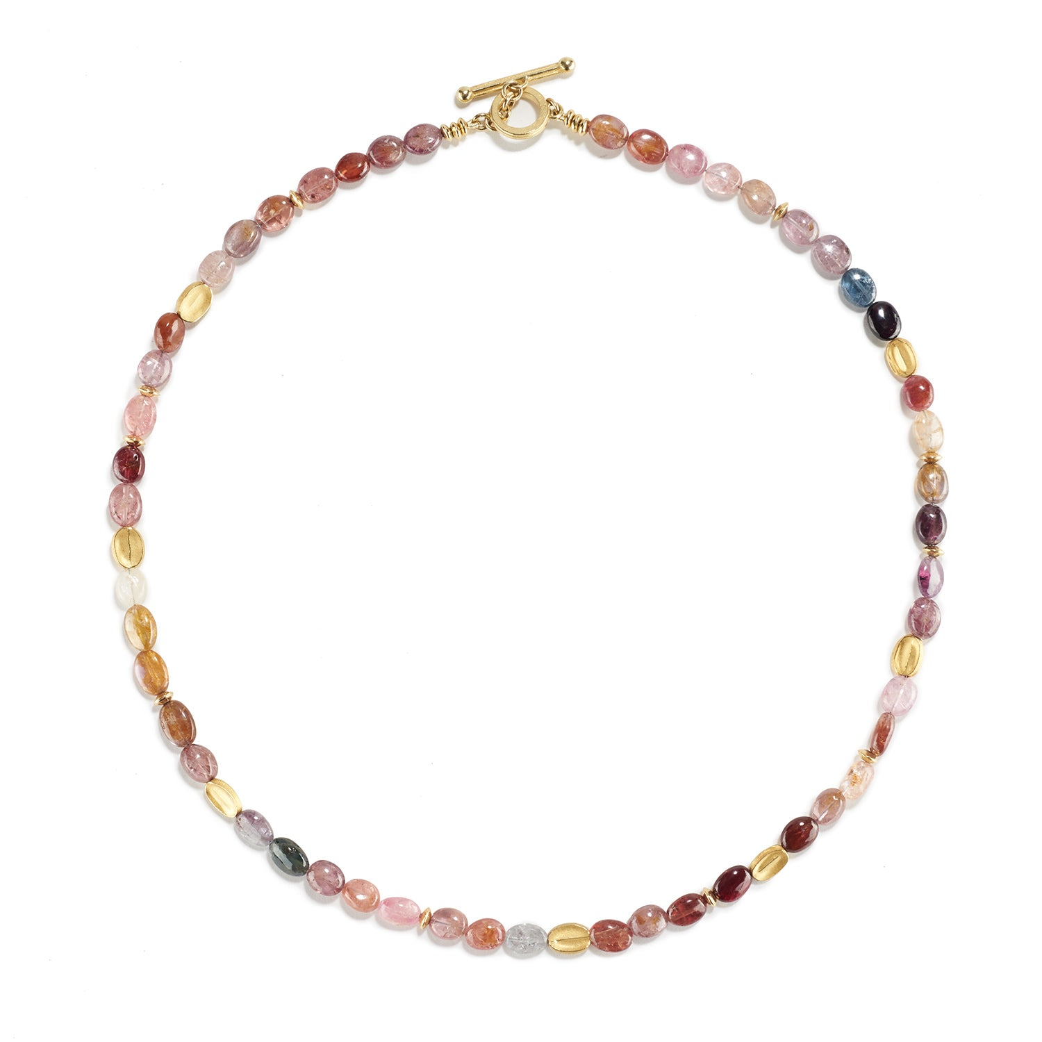 Multi Color Spinel Necklace