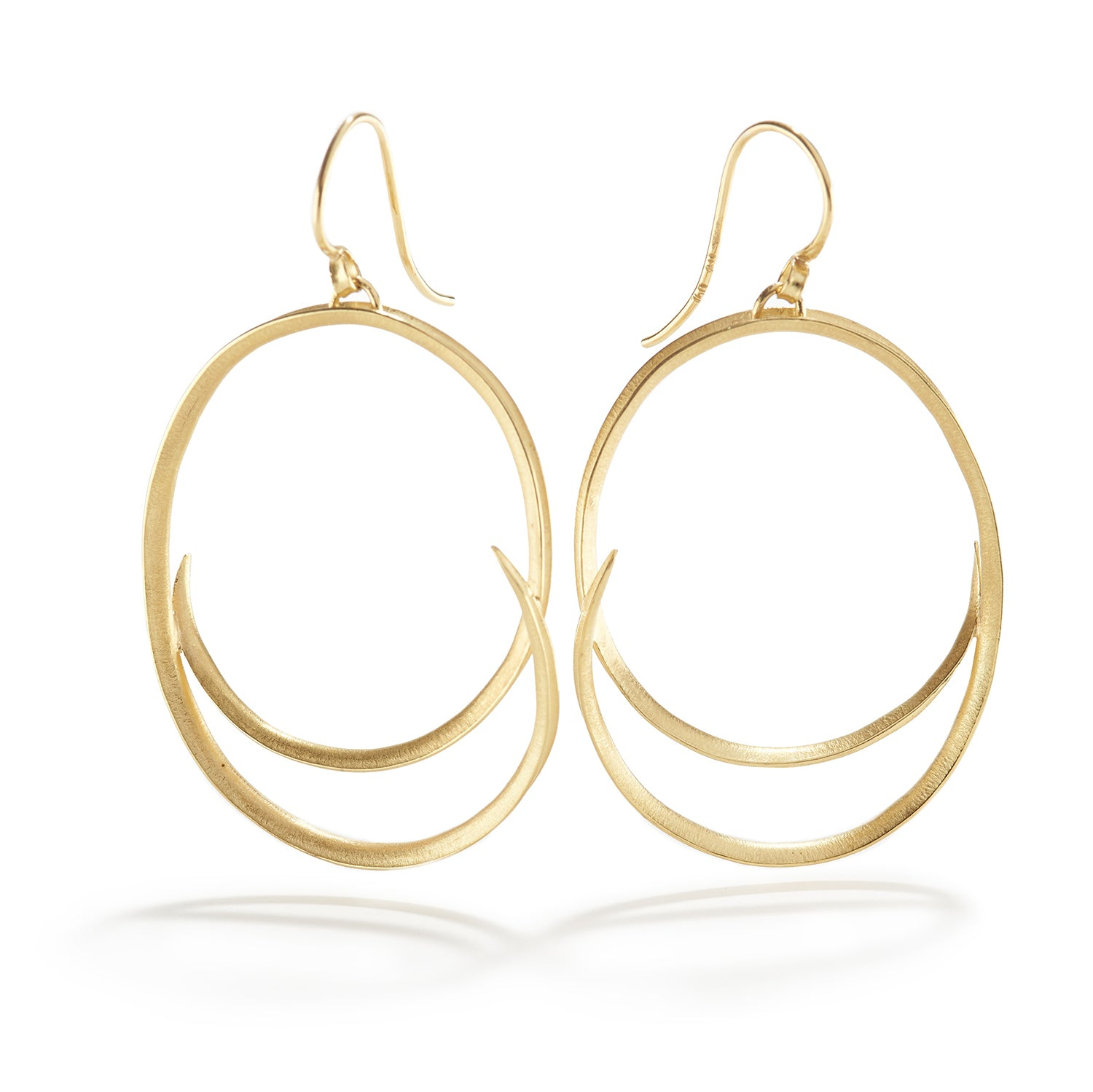 Large Oval Swirl Drop Earrings