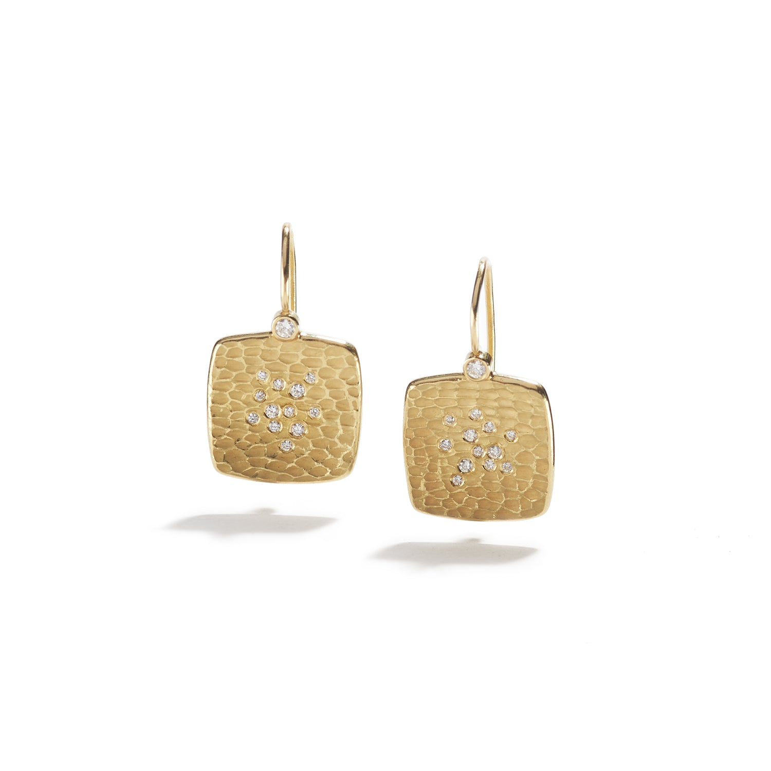 Gold Cushion Glacier Earrings