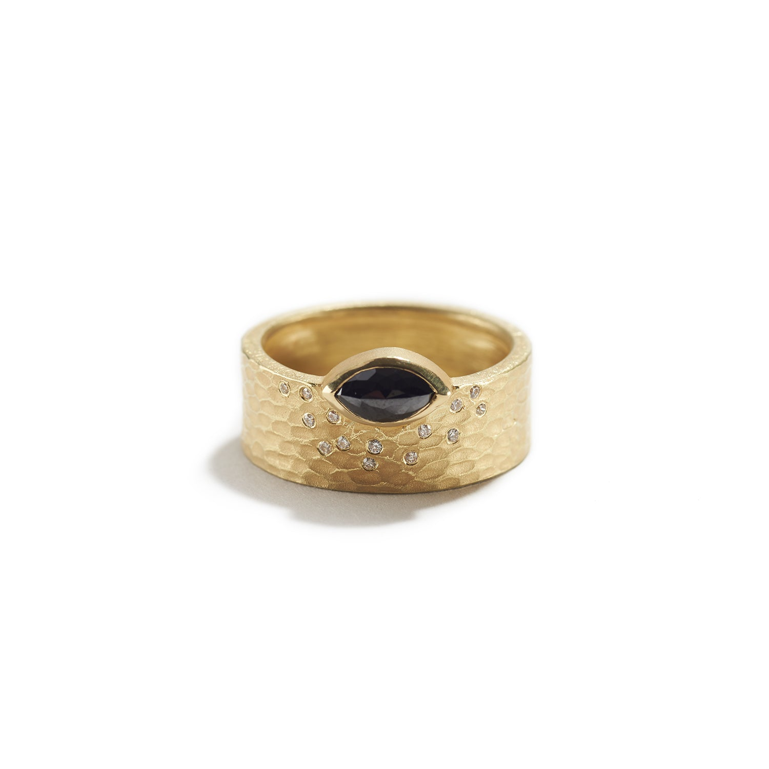 Glacier Ring with Black Diamond