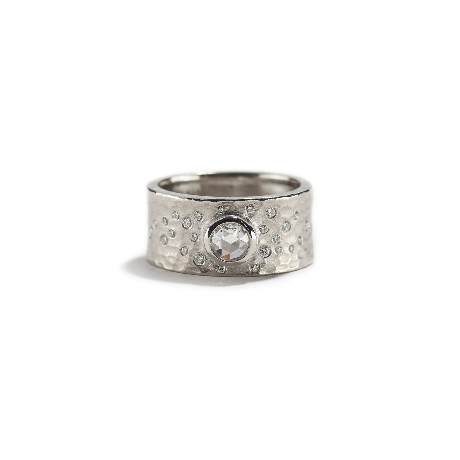 Platinum Glacier Ring with Diamond