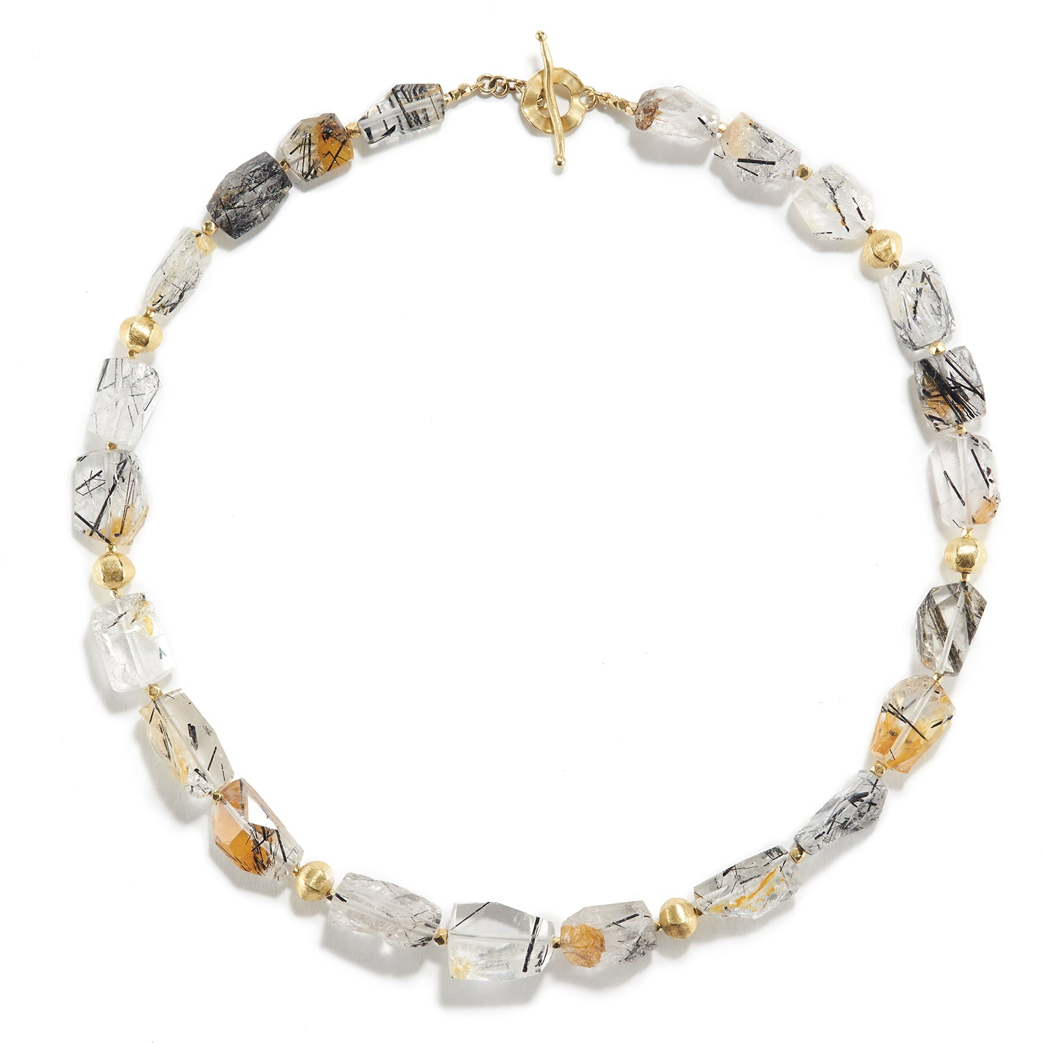 Long Tourmalated Quartz Necklace