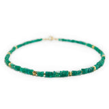 Rough Emerald Necklace with Gold
