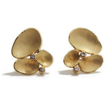 Golden Shell Cluster Earrings