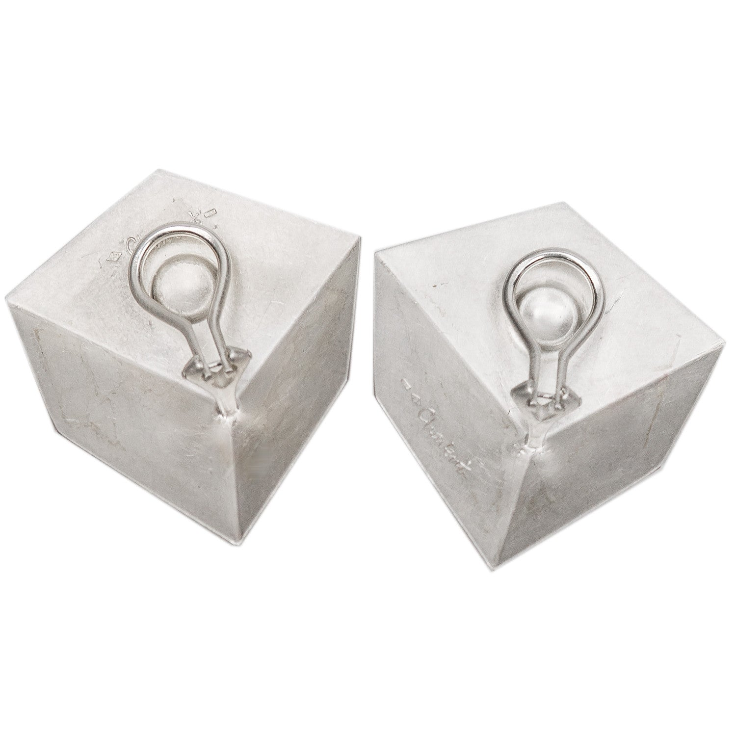 Large Cube Earrings