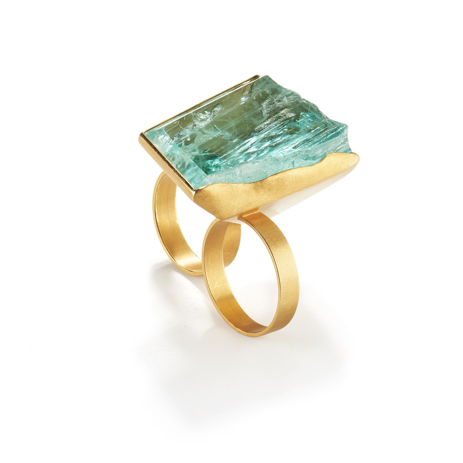 Aquamarine Double Ring