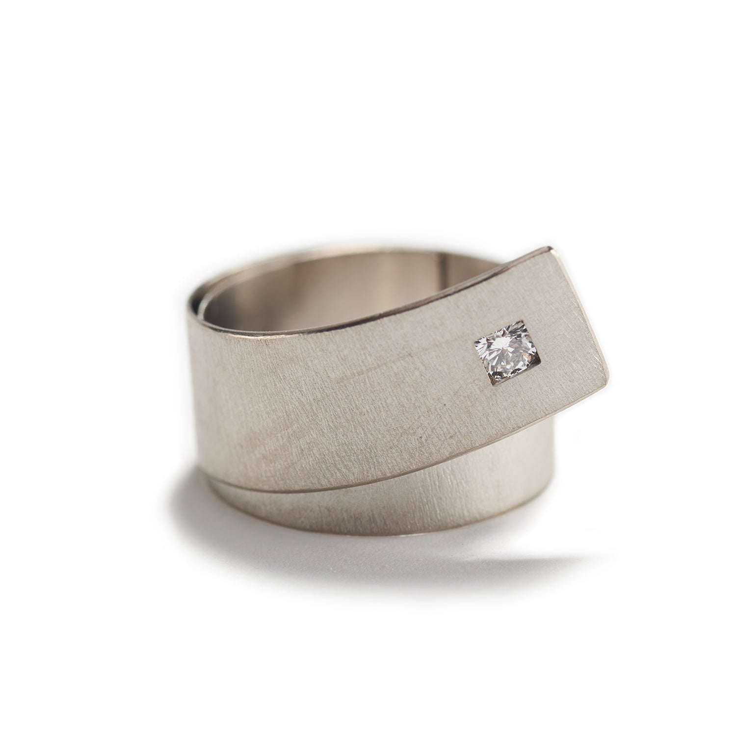 White Gold Palladium & Diamond Ring
