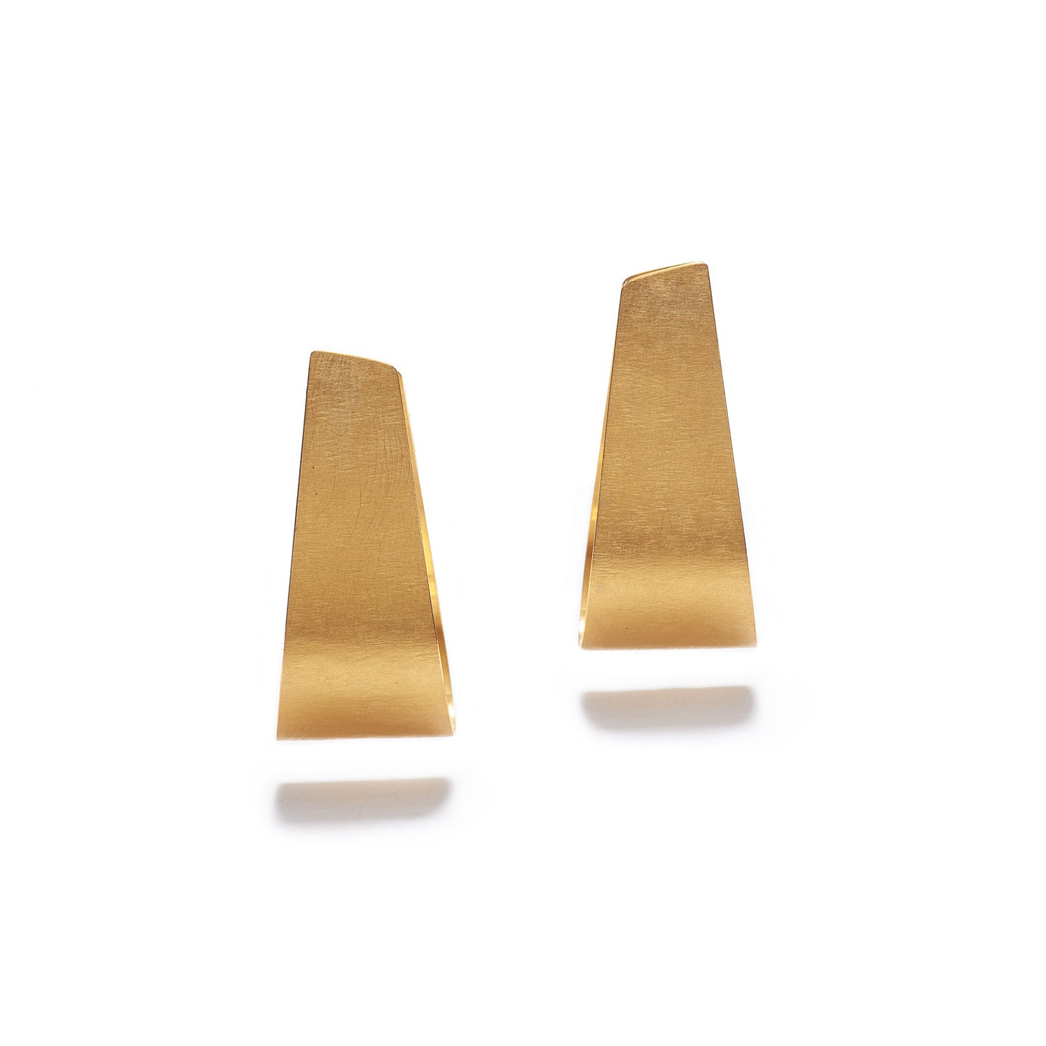 Medium Golden Clamp Earrings