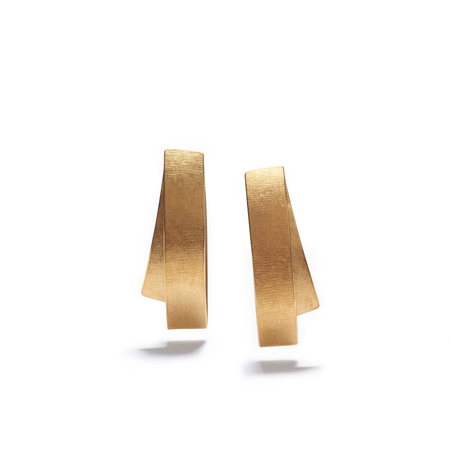 Small Folded Gold Earrings