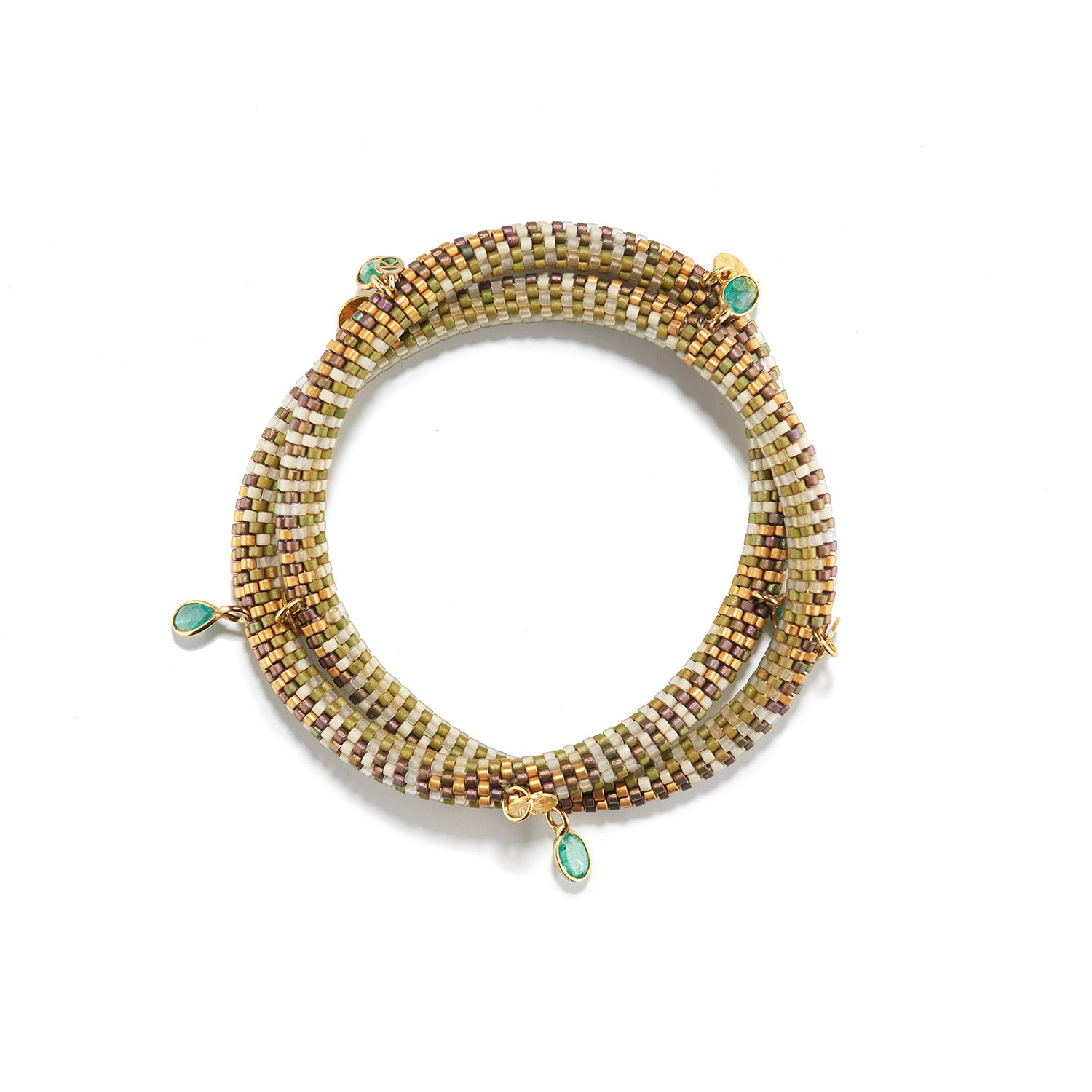 Bracelet, Emeralds and Gold