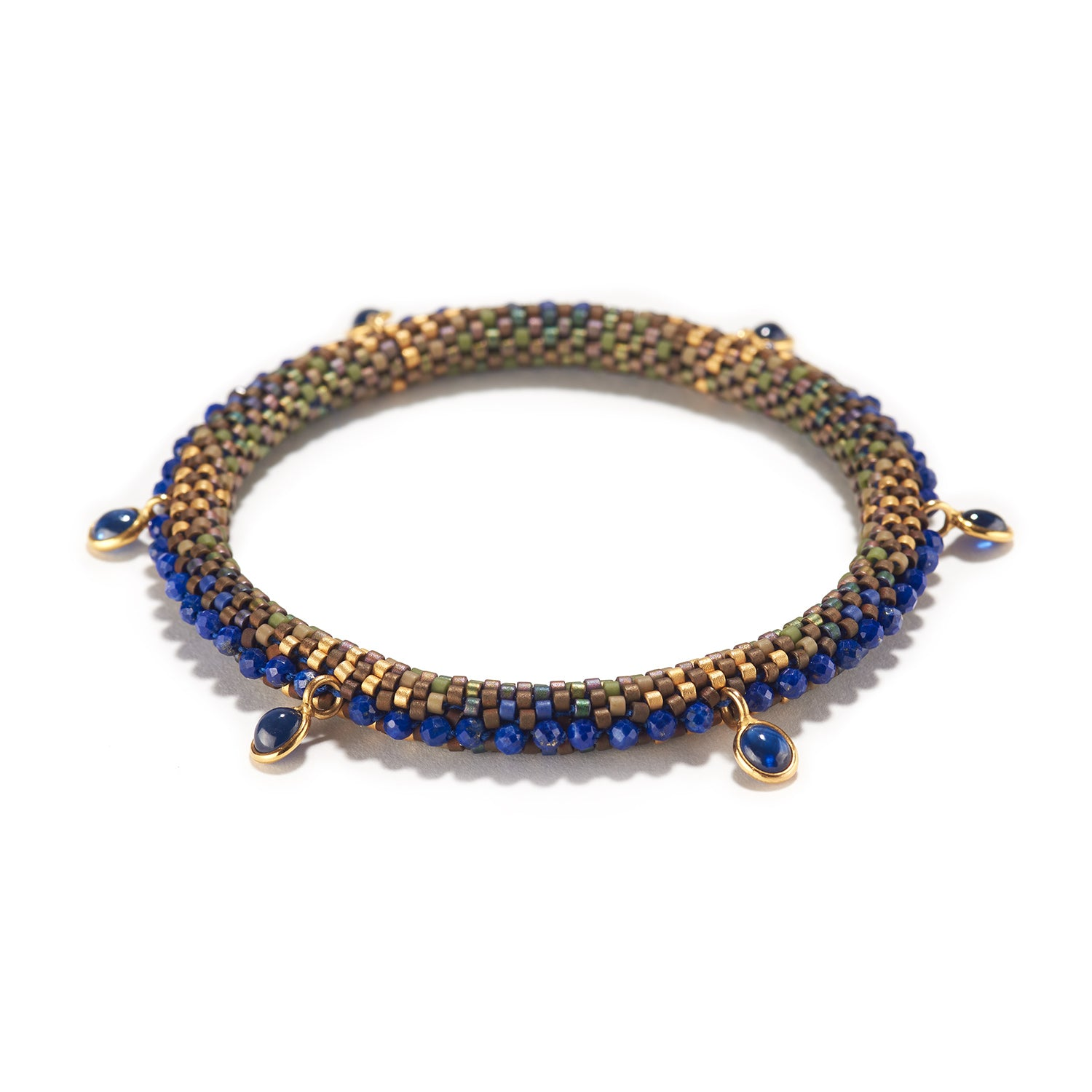 Lapis Series Bracelet with Sapphires