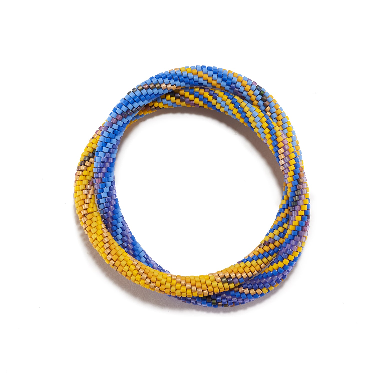 Summer Blue and Yellow Bracelet