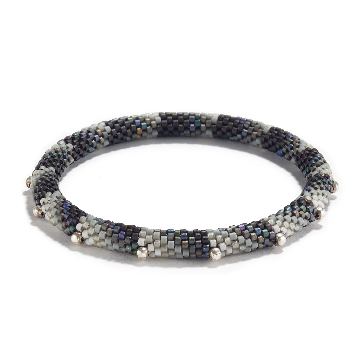 'Points' Pattern Bracelet with Silver