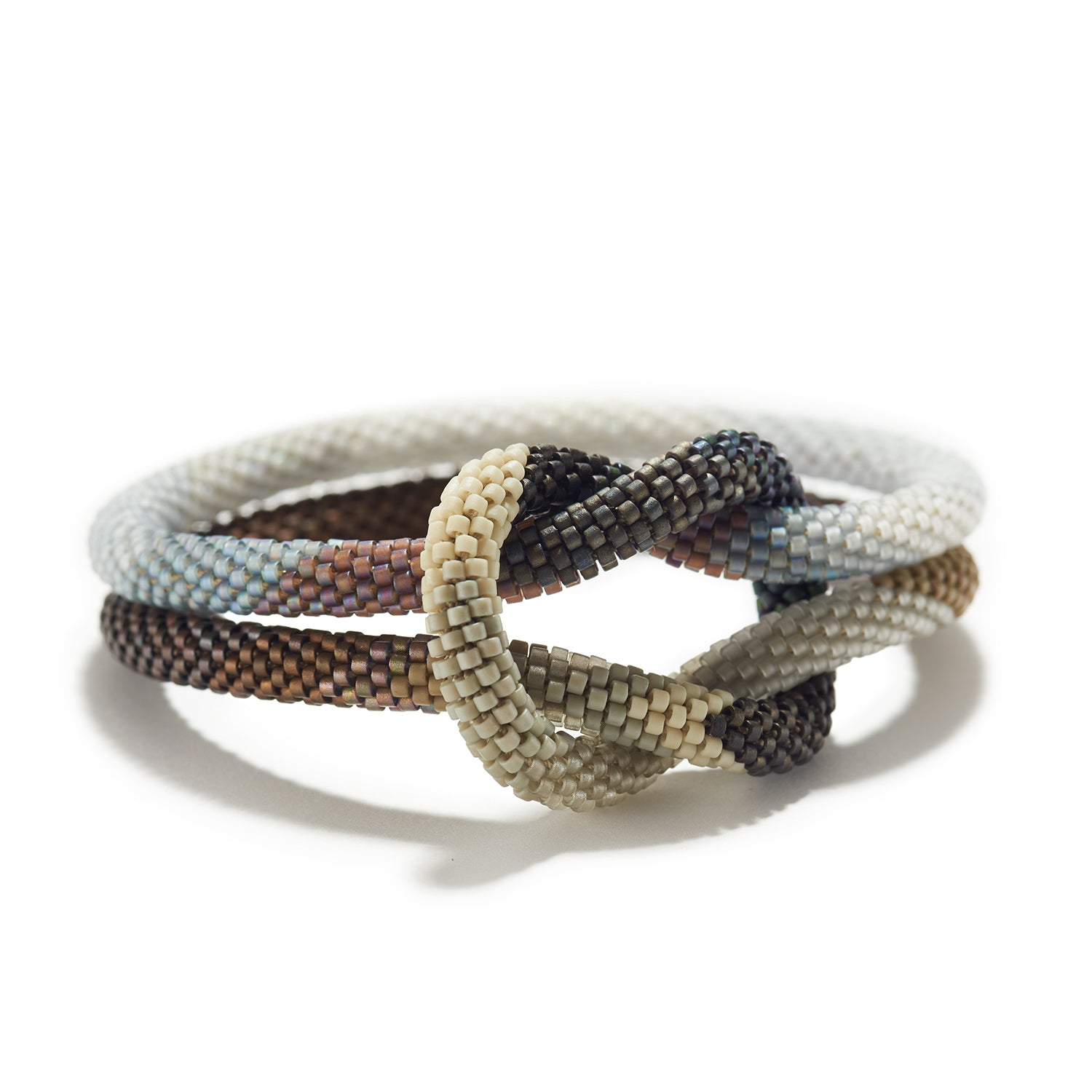 Double Bracelet with Weaver's Knot