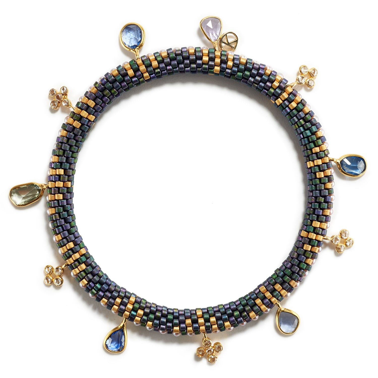 Holiday Bracelet with Sapphires and Diamonds