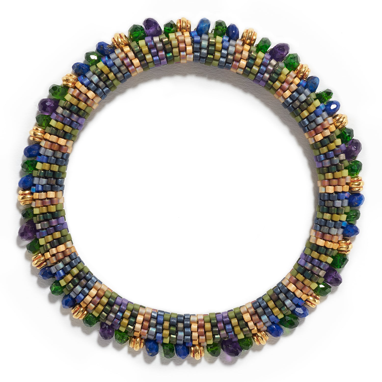 Lyda Bracelet with Amethyst, Chrome Diopside & Lapis
