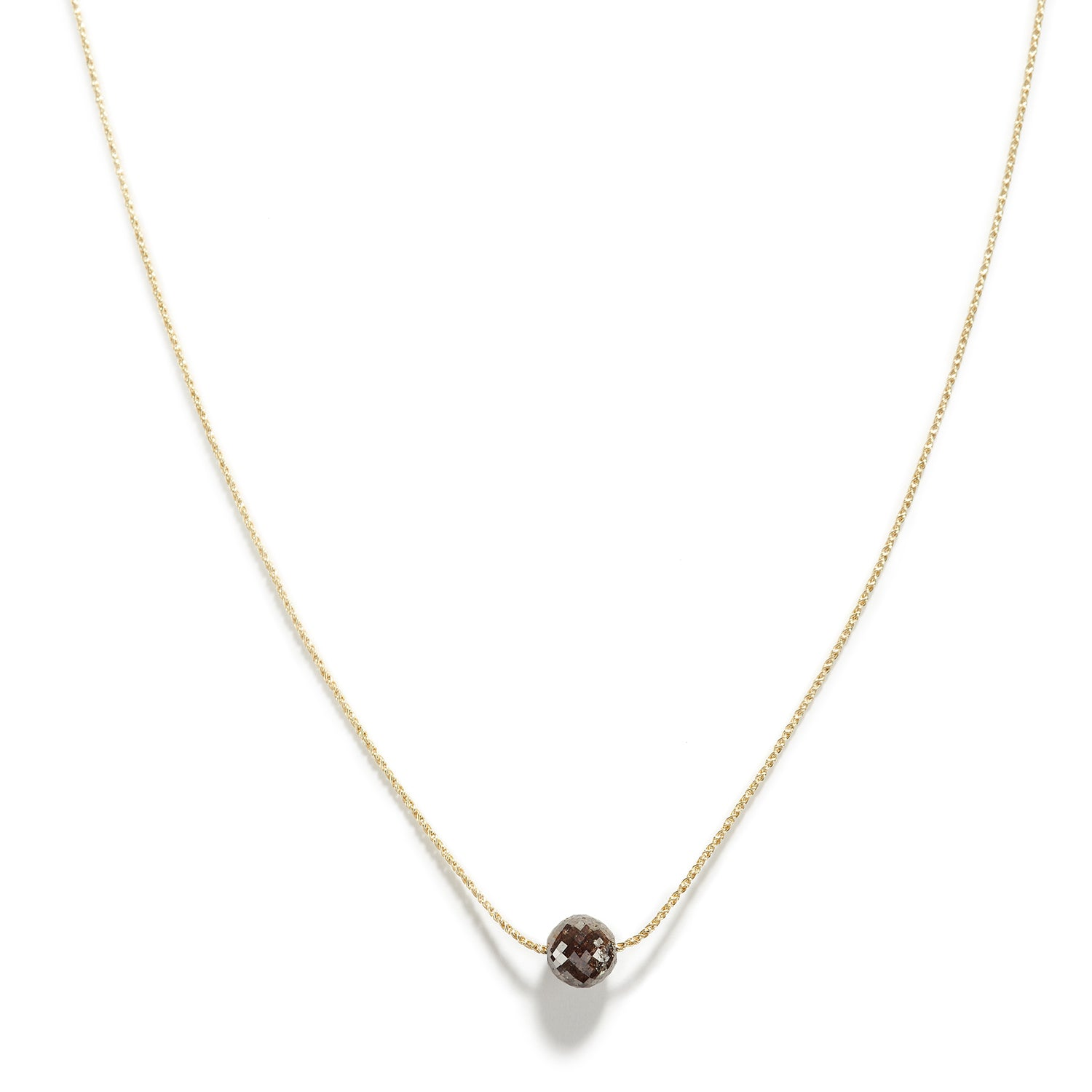 Rustic Brown Single Diamond Necklace
