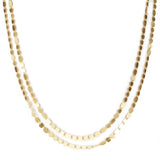 Double Gold Party Necklace