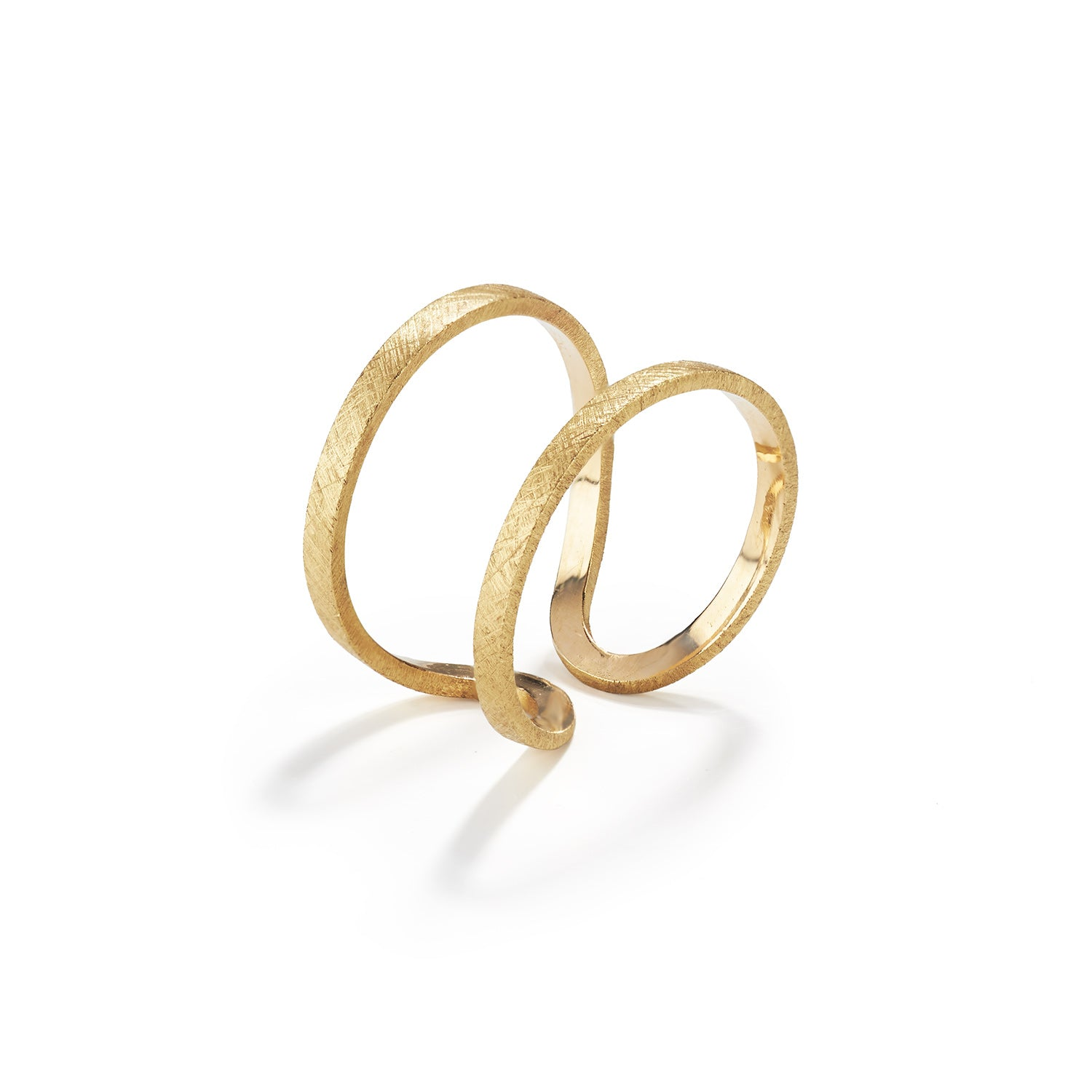 Gold Double Fil Pla Ring