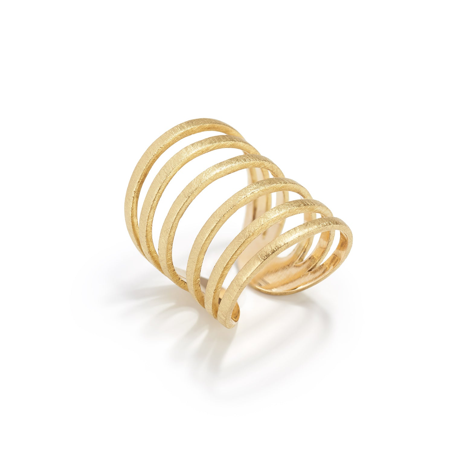 Gold 6 Round Fil Pla Ring