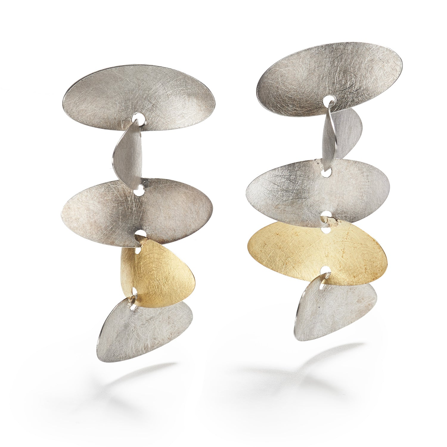 Samoa Silver & Gold Earrings
