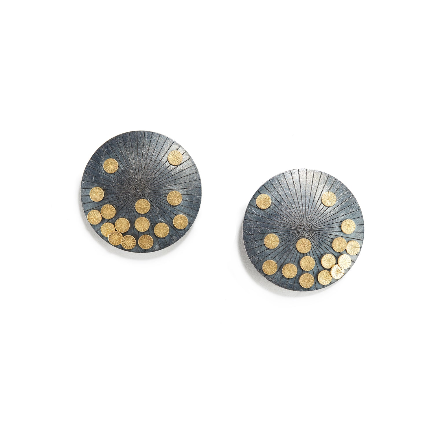 Round Samurai Earrings