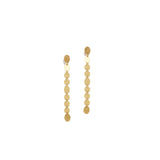 Single Strand Gold Party Earrings