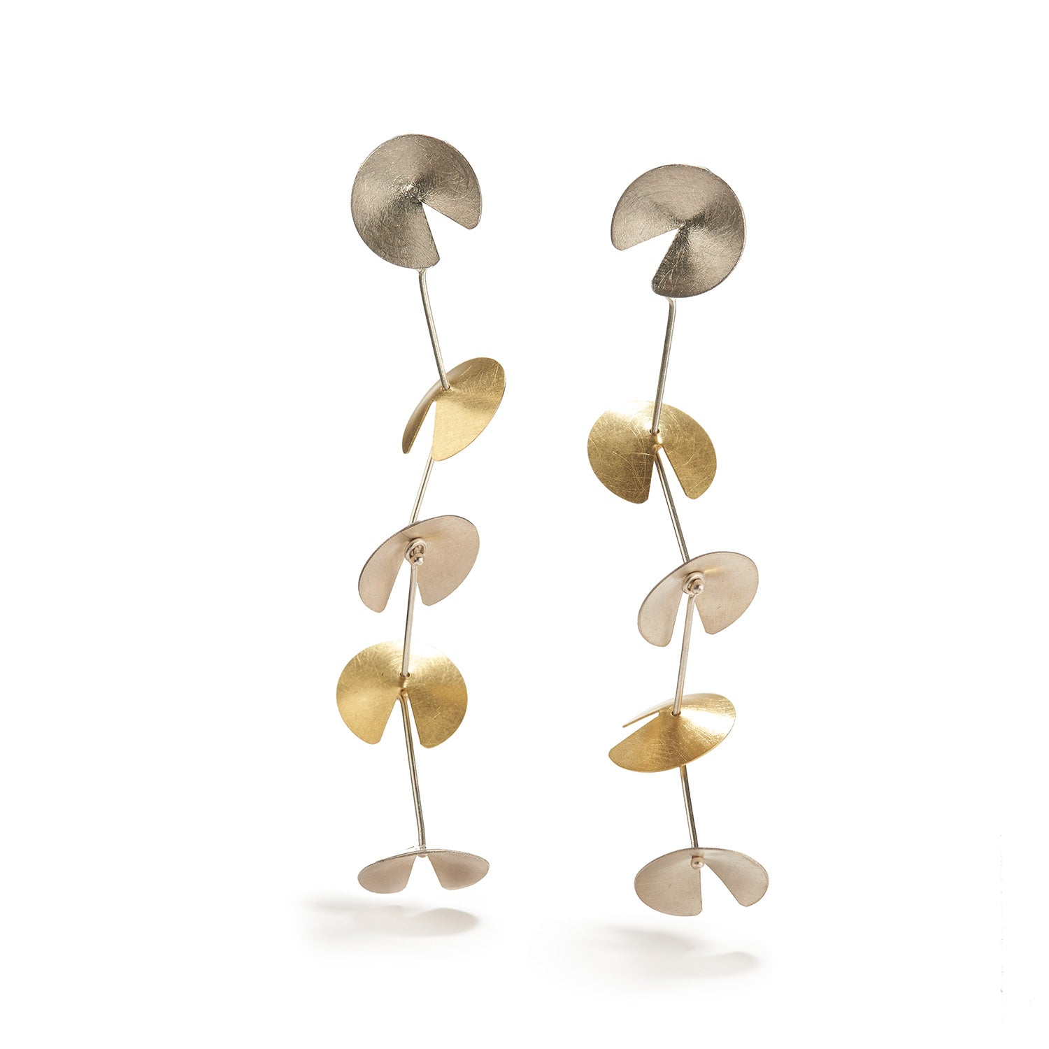 Marina Silver & Gold Earrings