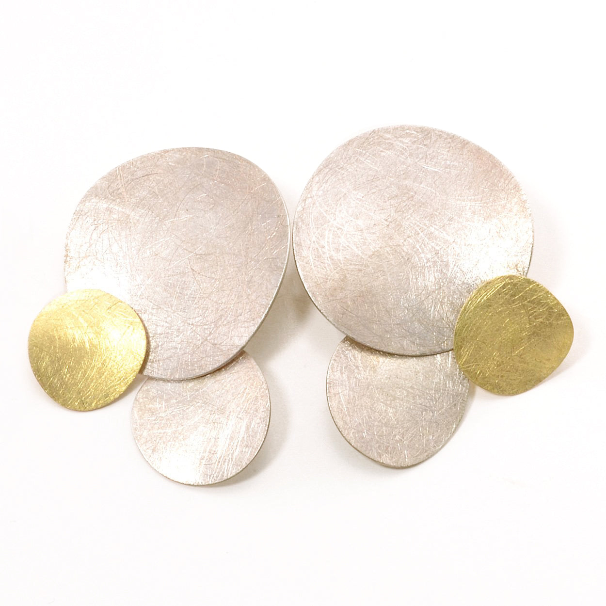 Silver and Gold Xips Earrings
