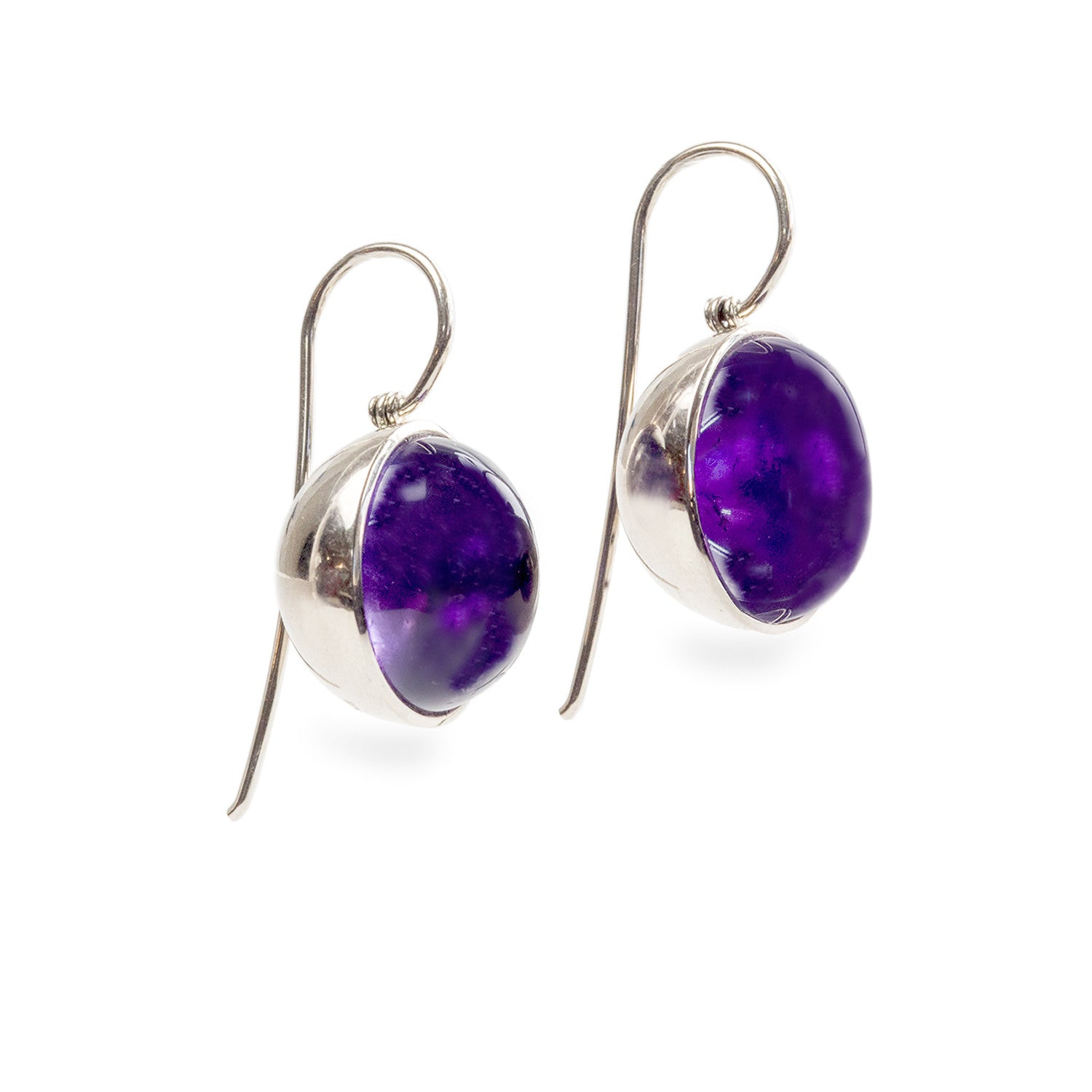 Amethyst Bowl Earrings