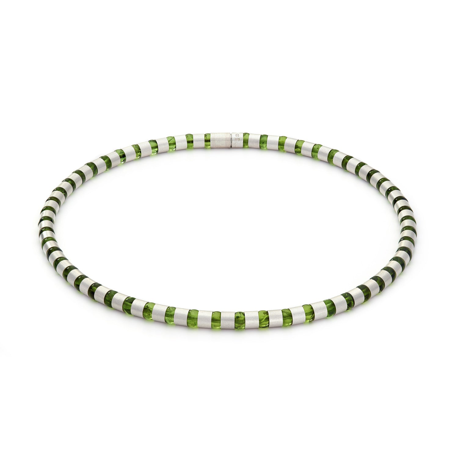 Cleopatra Silver Collier~6mm Peridot