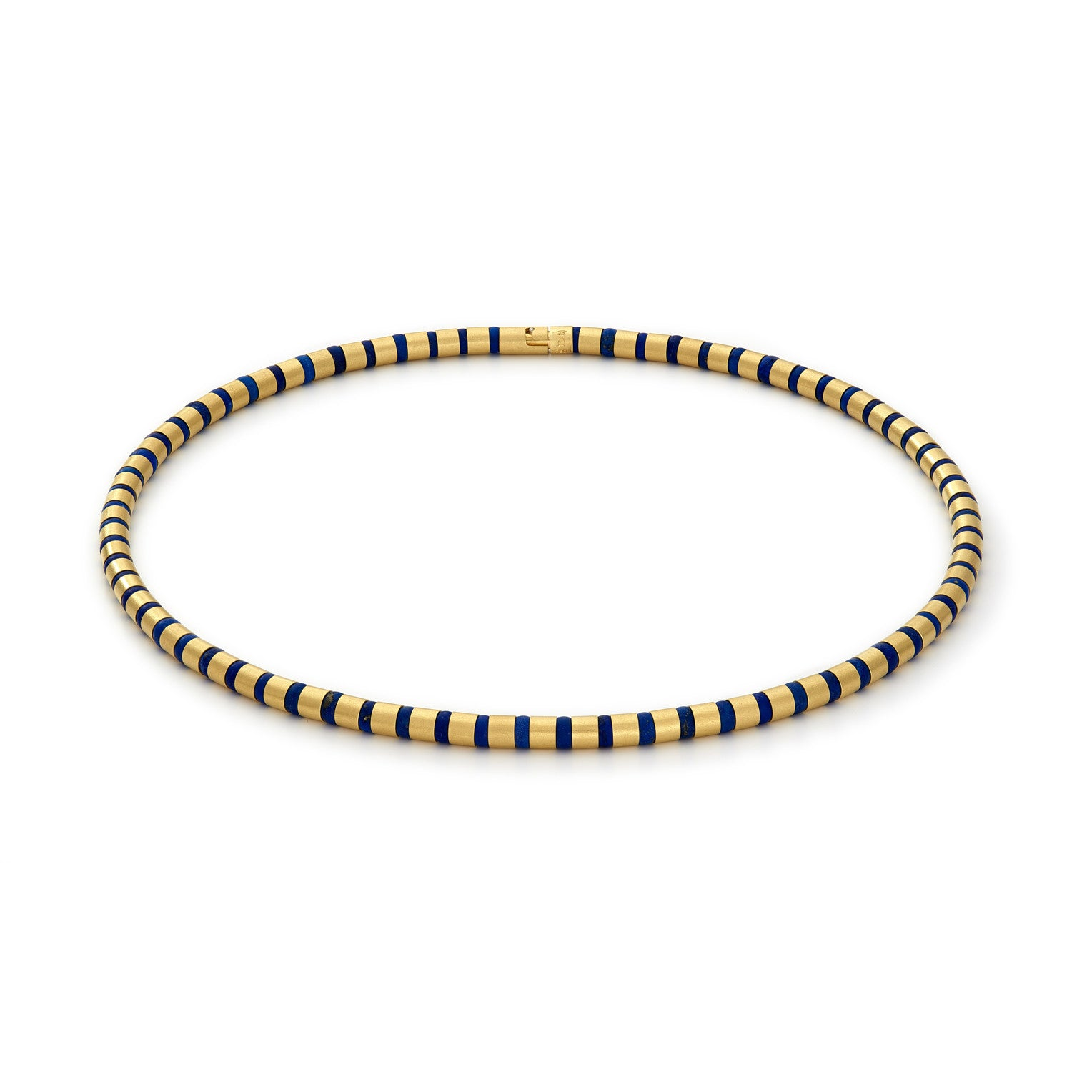 Cleopatra Gold Collier~5mm Lapis Lazuli
