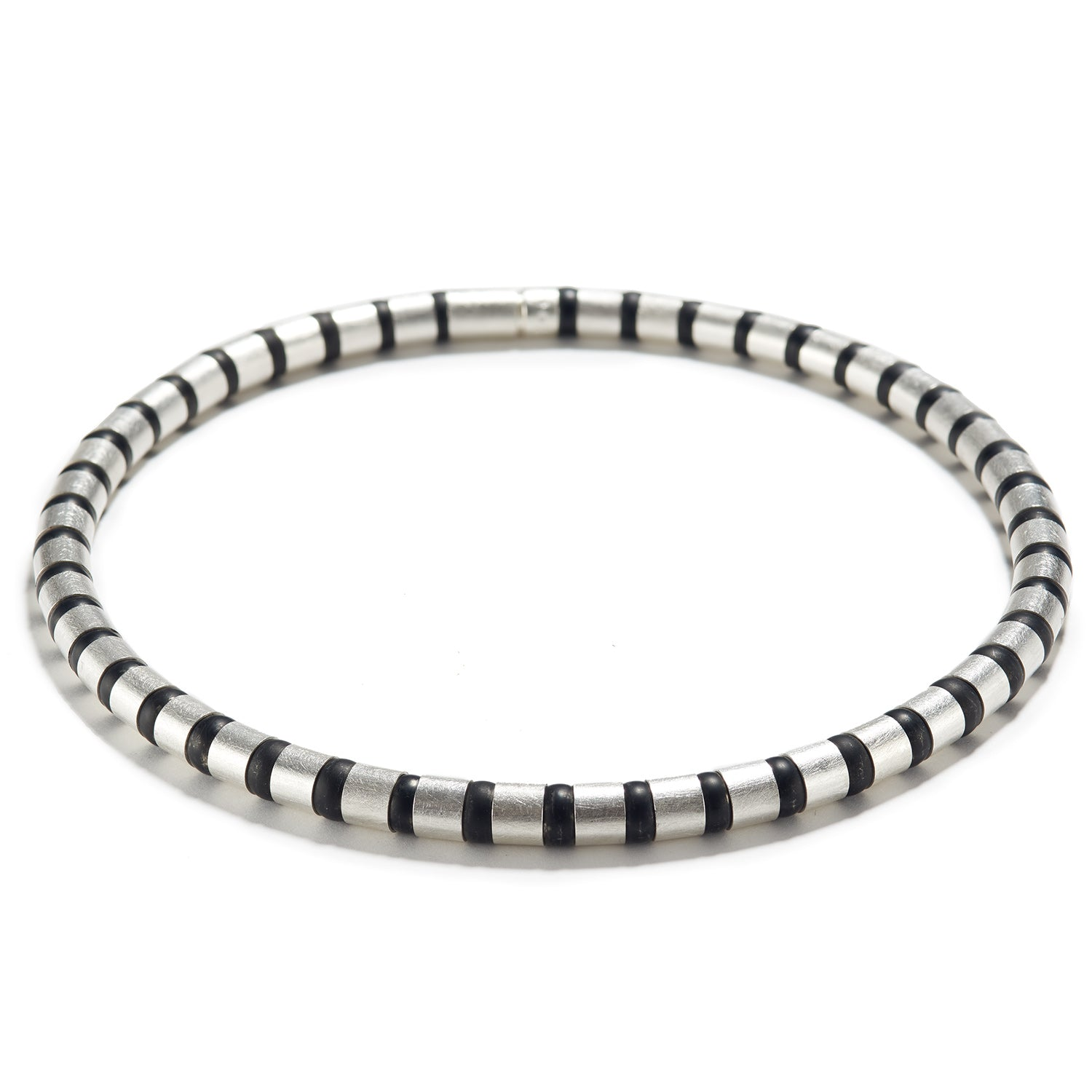 Cleopatra Sterling Silver Collier~8mm Black Onyx