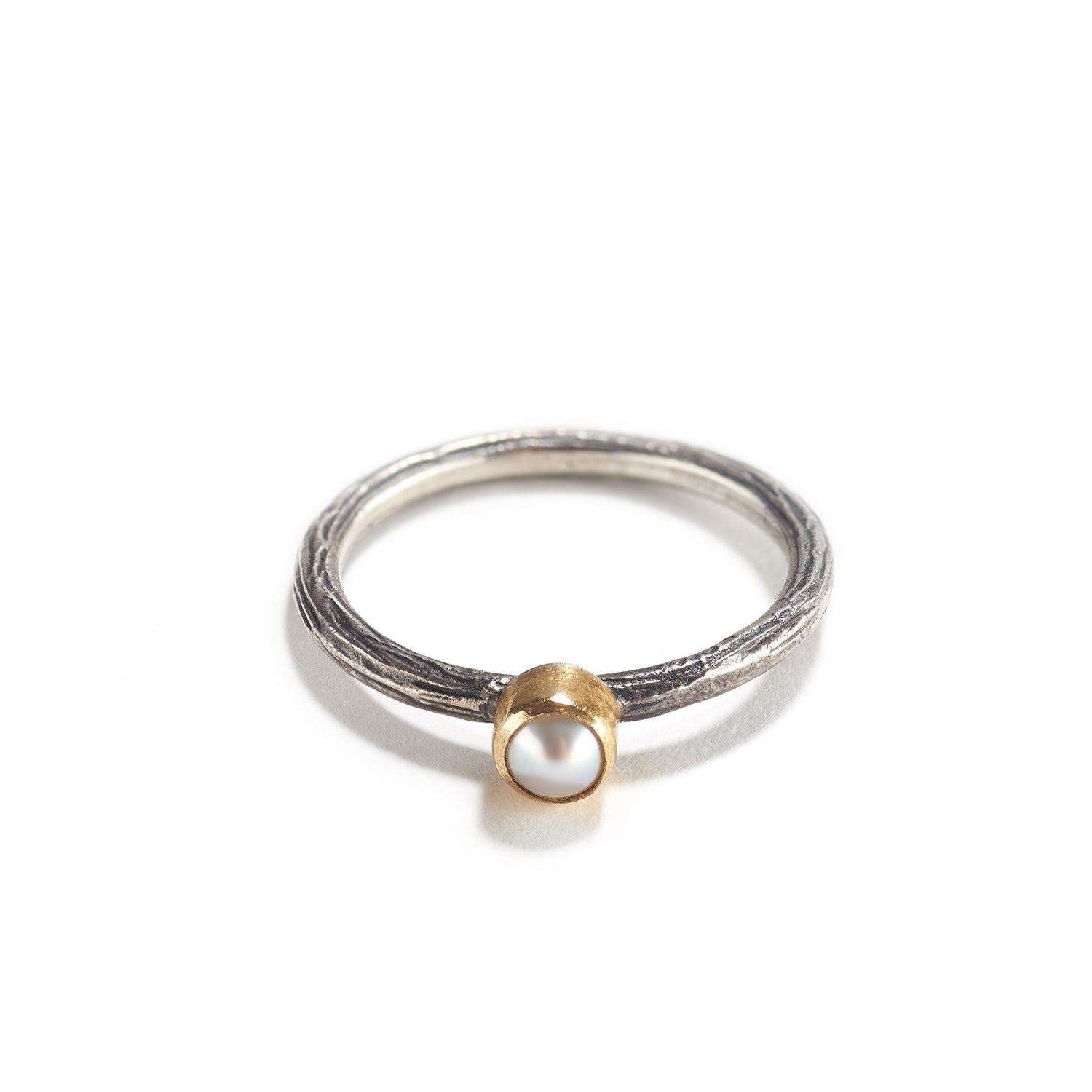 Small Pearl and Silver Ring