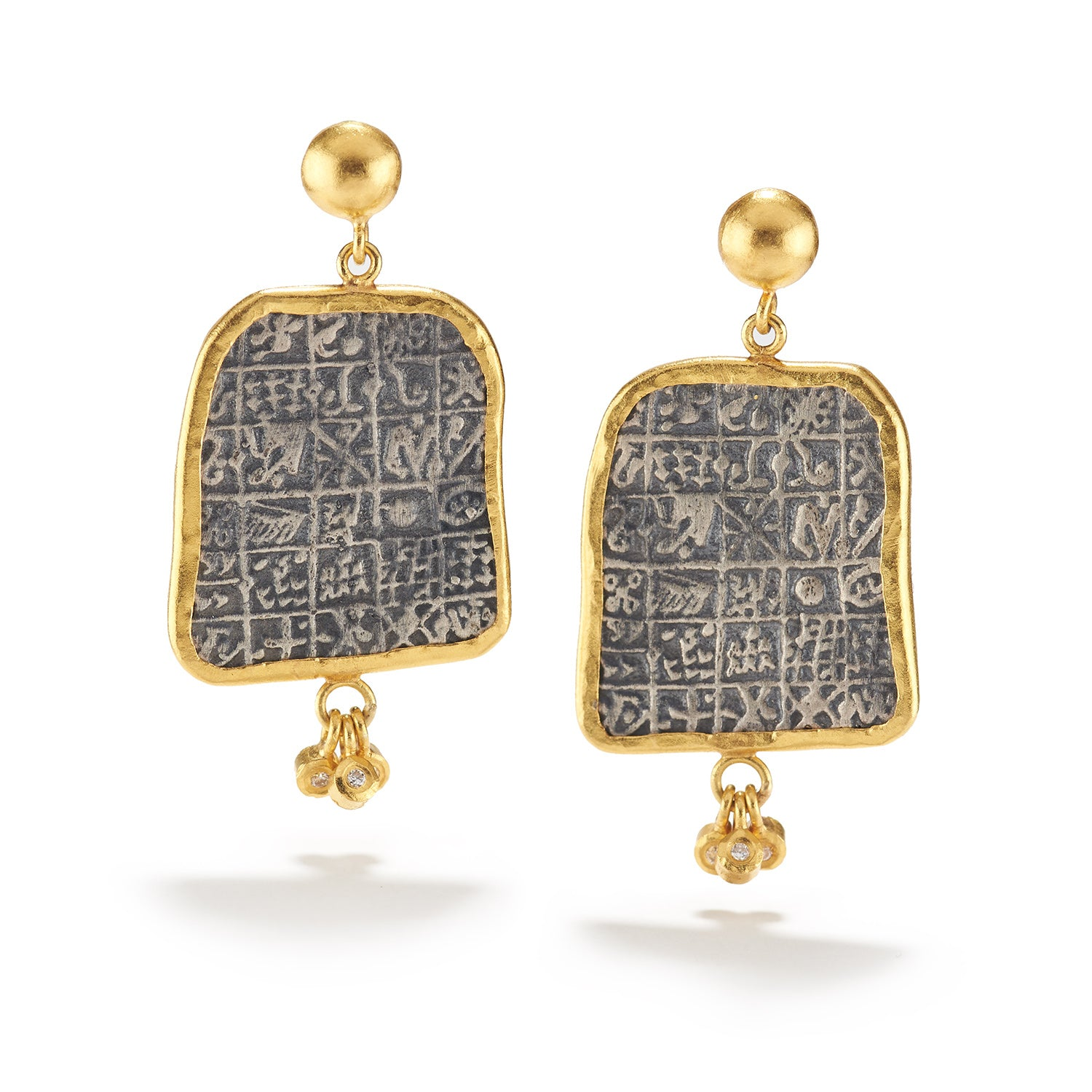 Talisman and Diamond Earrings