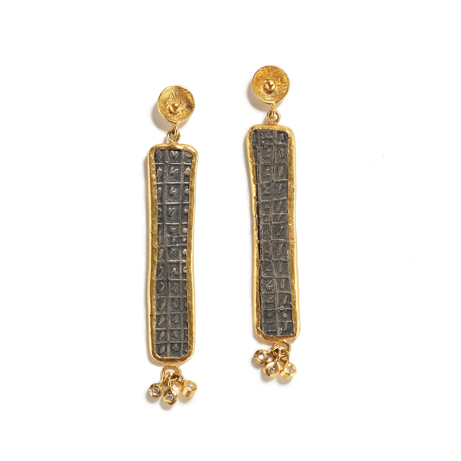 Ancient Turk Tablet Earrings