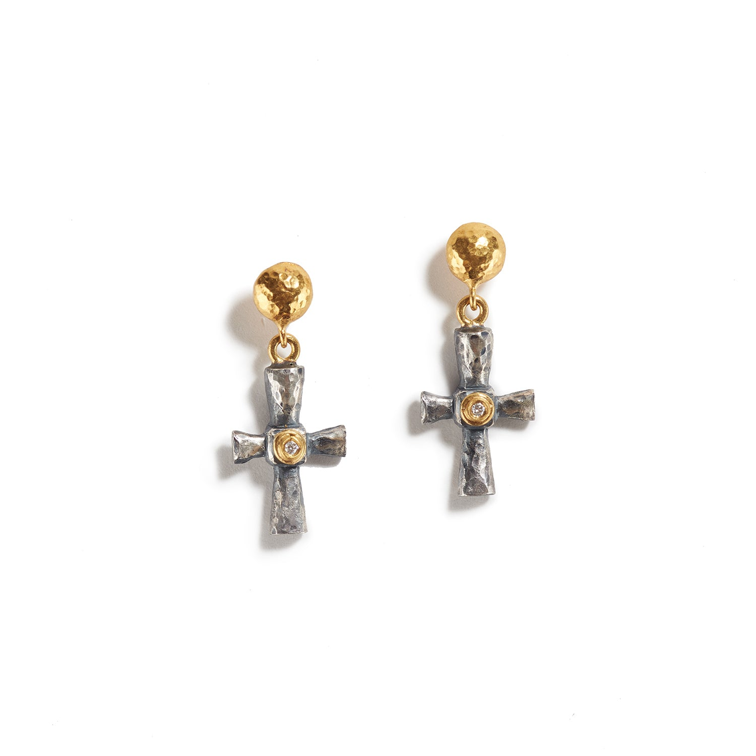 Mini Pontus Cross Earrings
