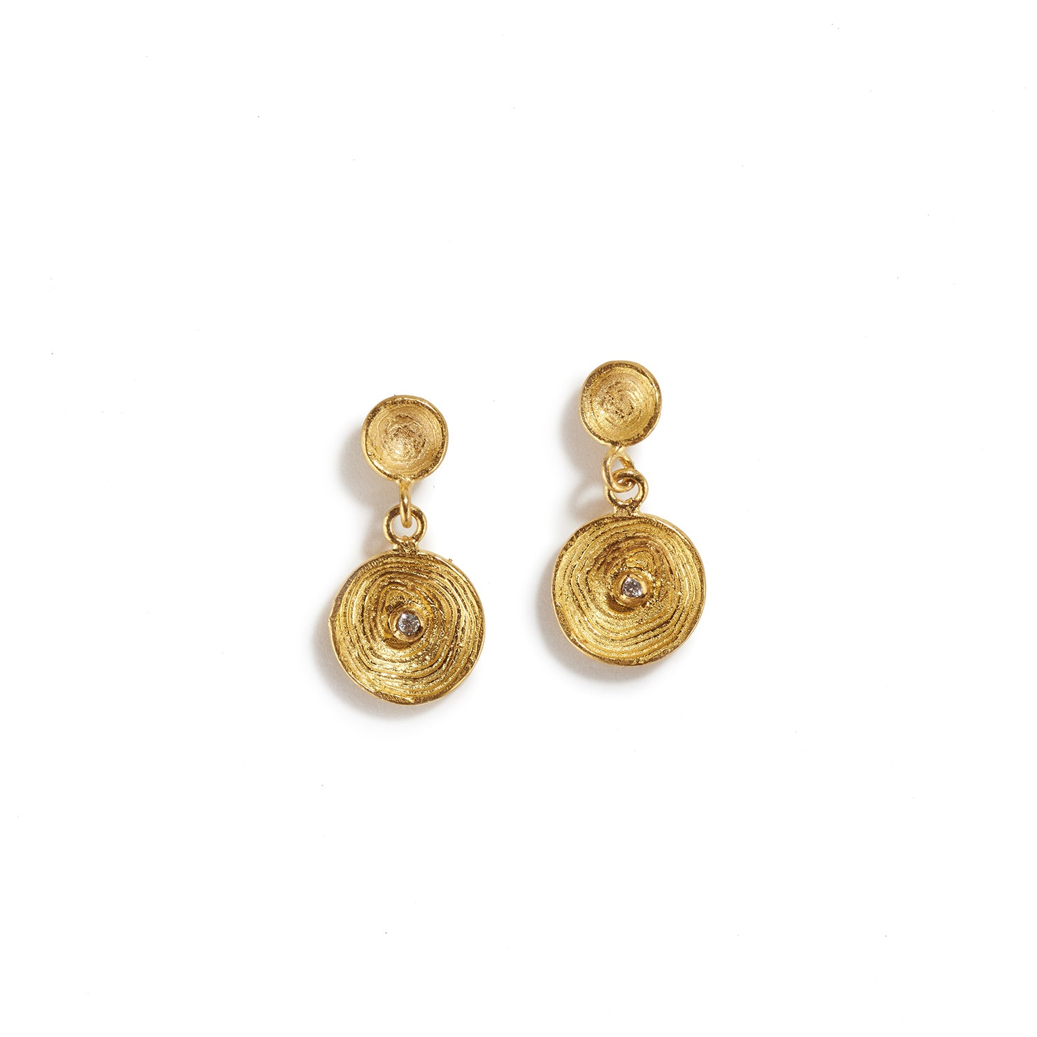 Small Cups of Gold Earrings