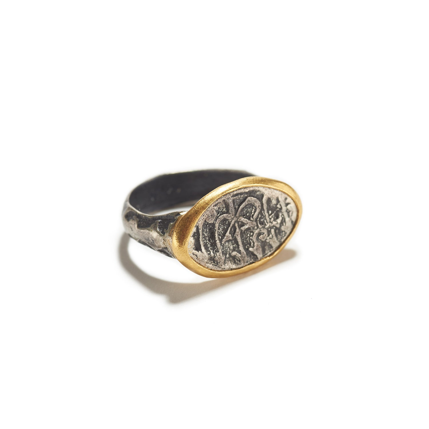 Ancient Calligraphy Ring