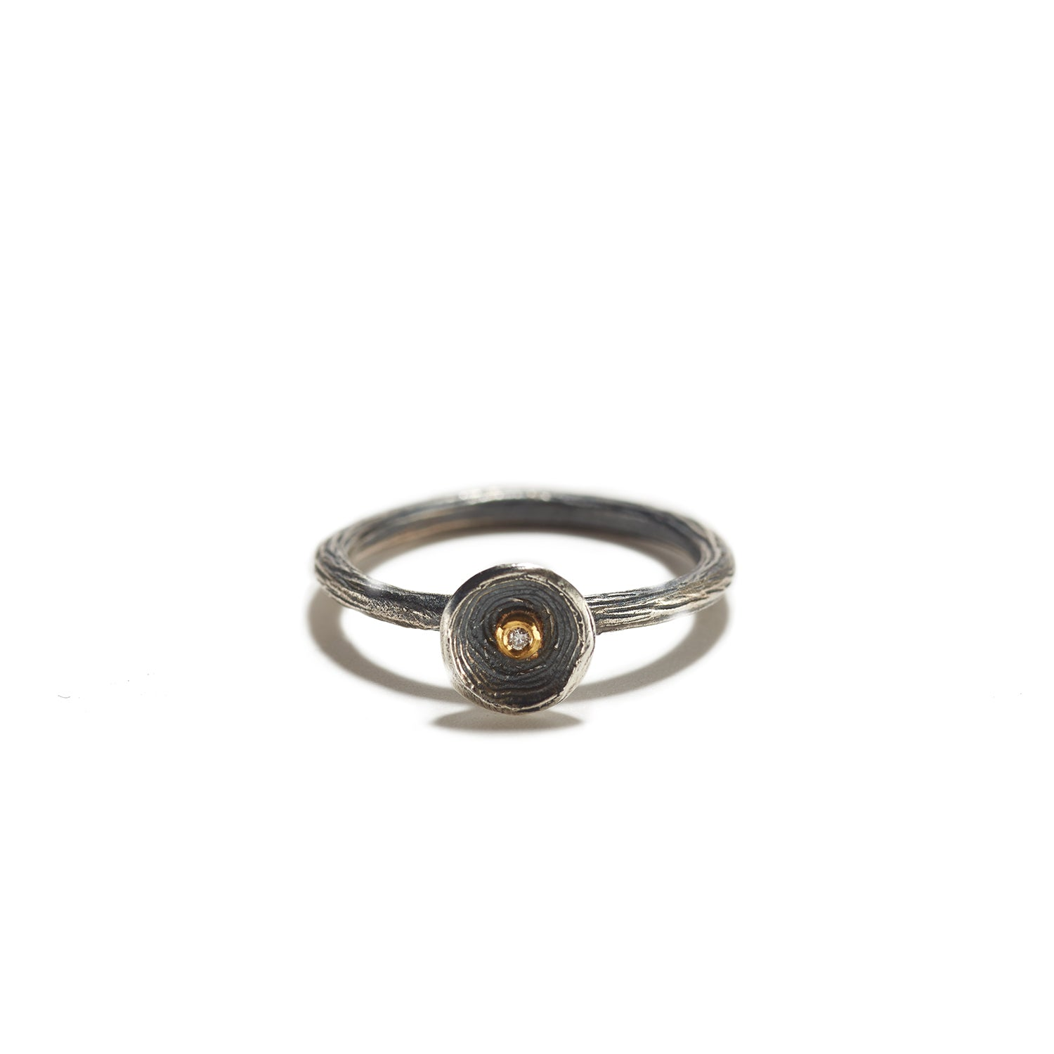 Silver Cup with Gold and Diamond Ring