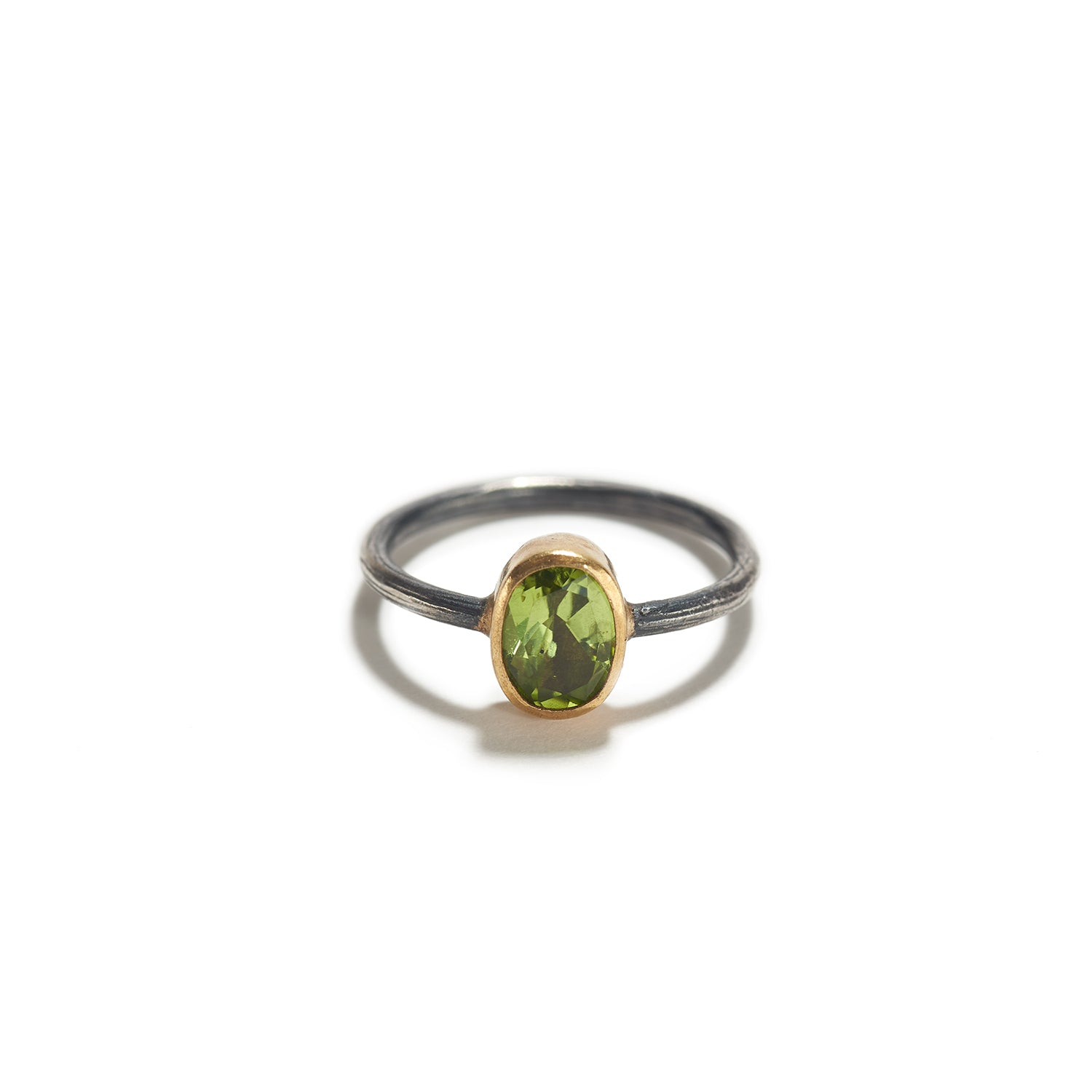 Peridot Ring with Silver