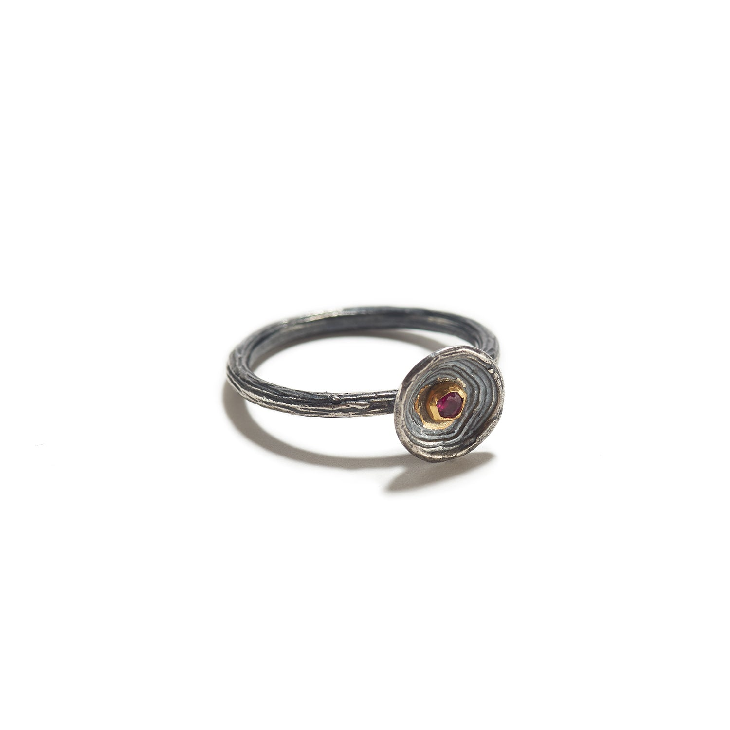 Silver Cup with Ruby Ring