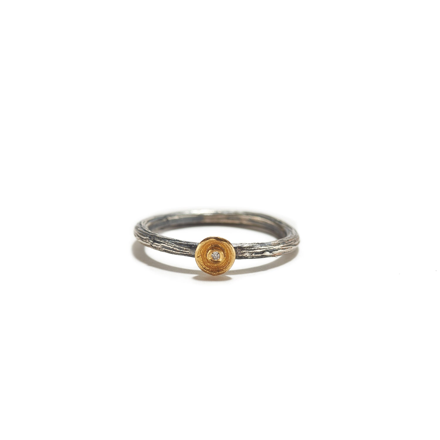 Small Golden Cup with Diamond Ring