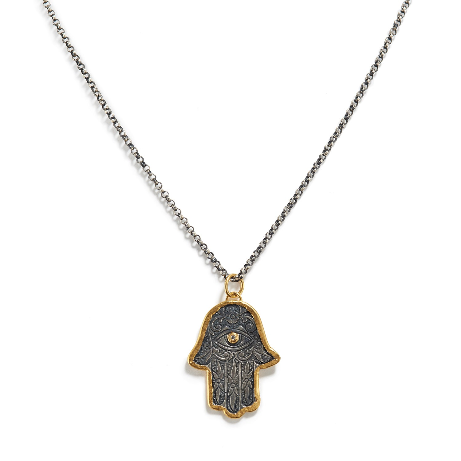 Lucky Hand Hamsa Necklace