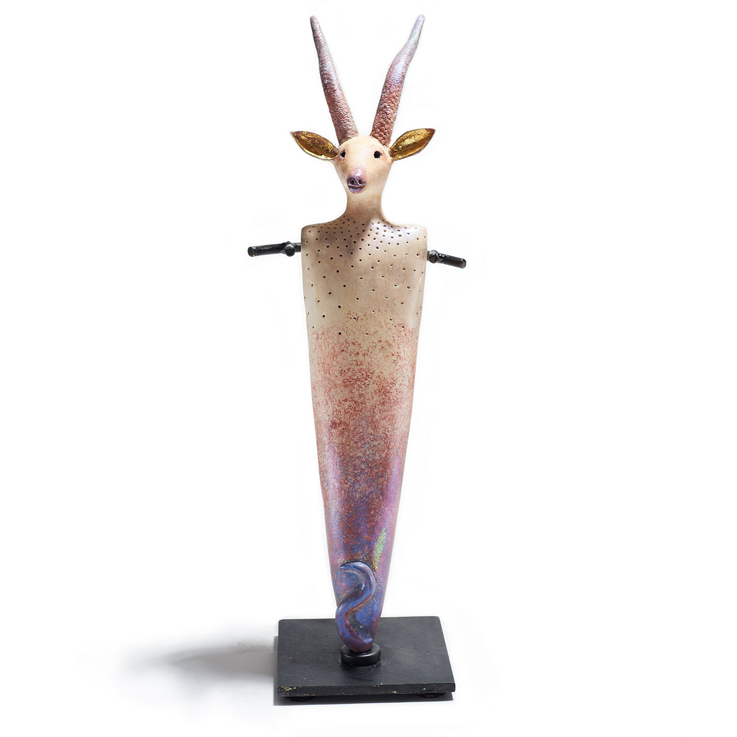 Antelope with Carved Horns Totem