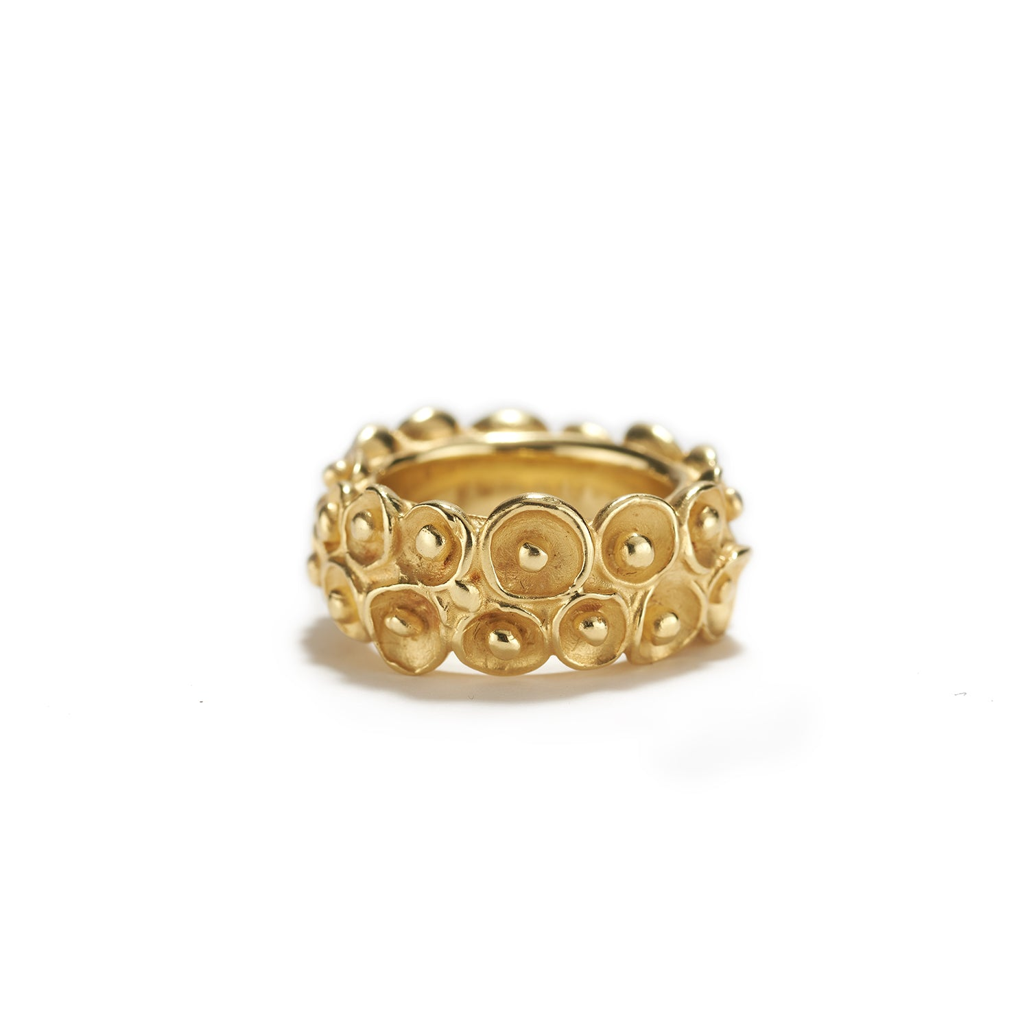 Double Calyxes Ring in Gold