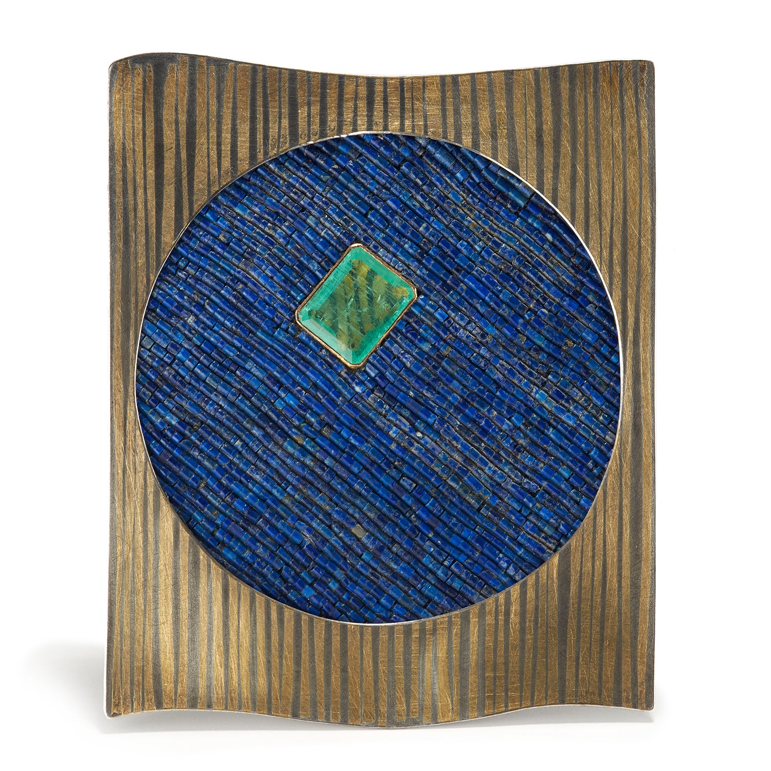 Lapis and Emerald Brooch/Pendant