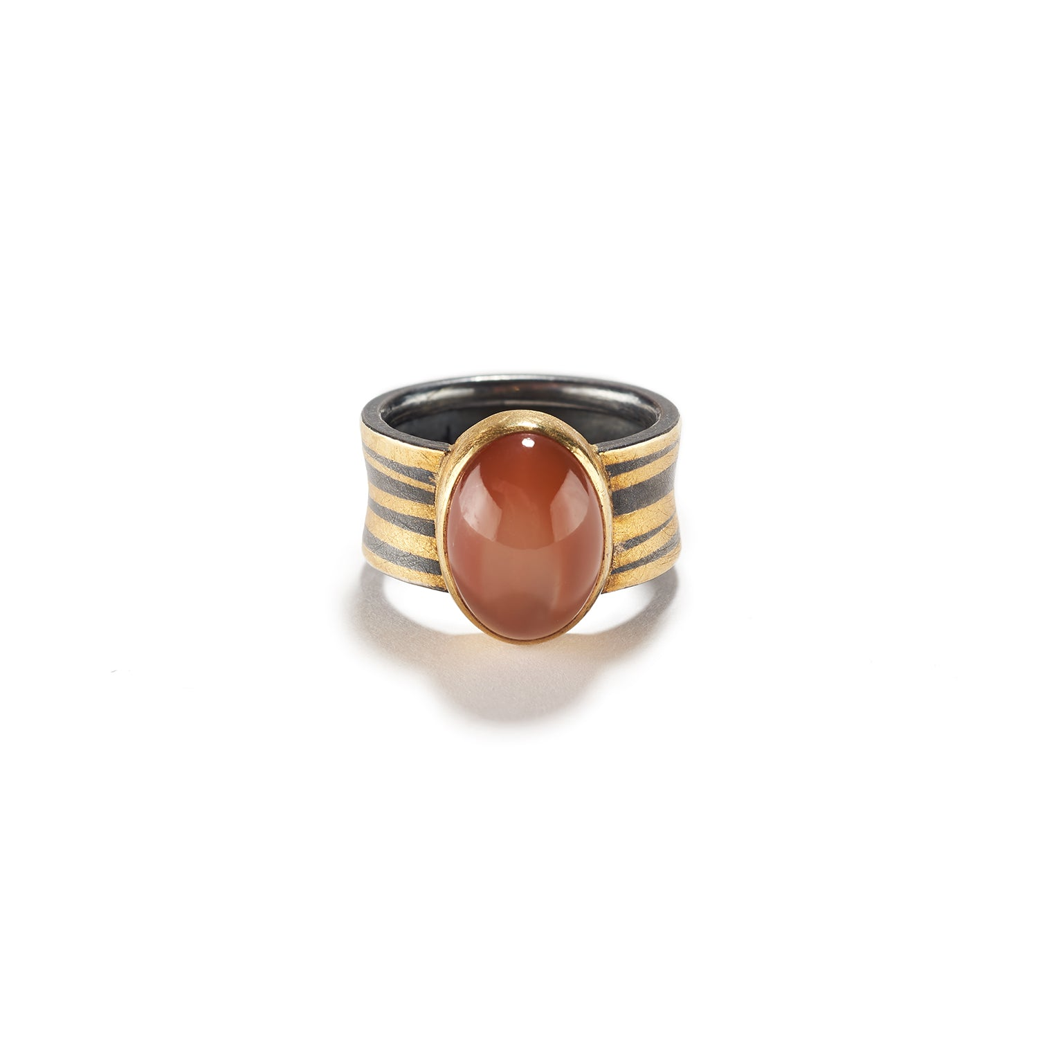 Apricot Moonstone Ring